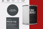 Cylindrical Tin Container Mockup