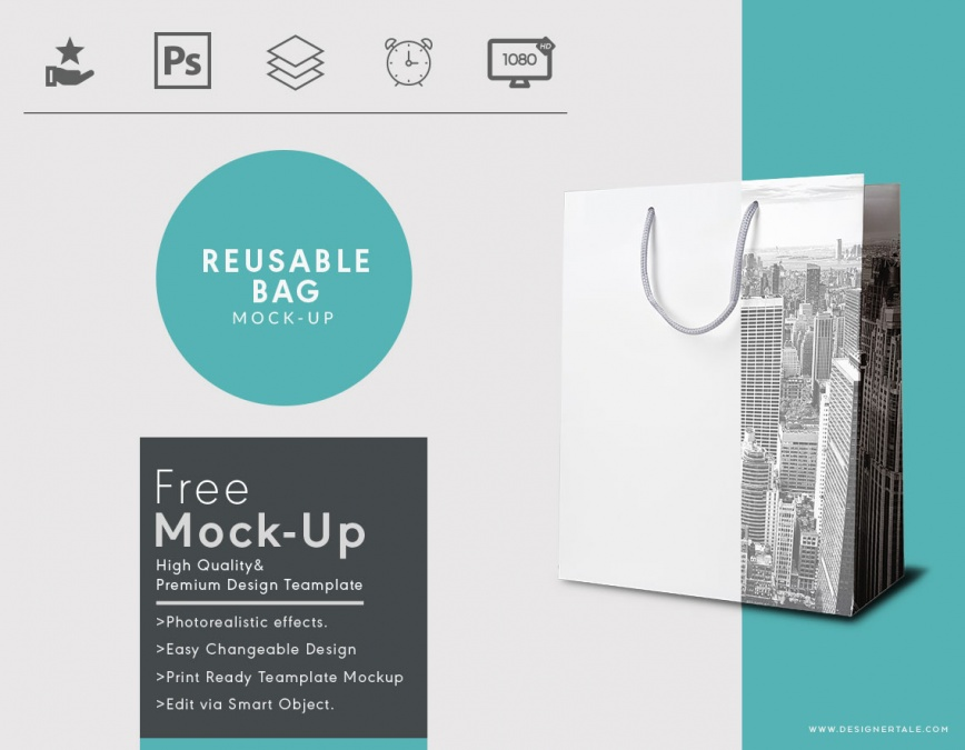 reusable bag mockup