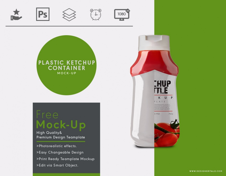 Plastic ketchup container mock up