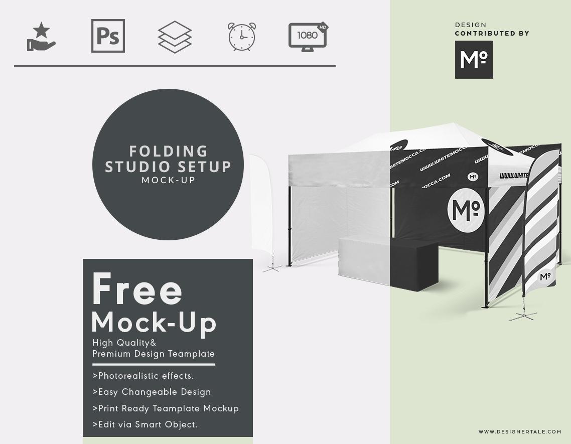 folding studio set up mock up