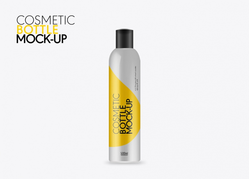 Photo realistic tall size cosmetic bottle photoshop mock up