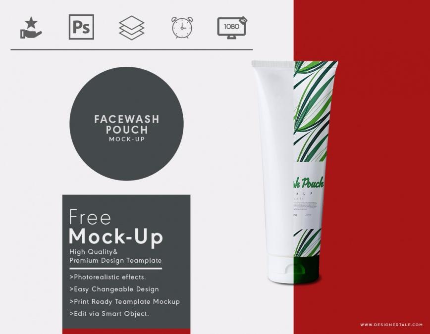 facewash pouch mock up