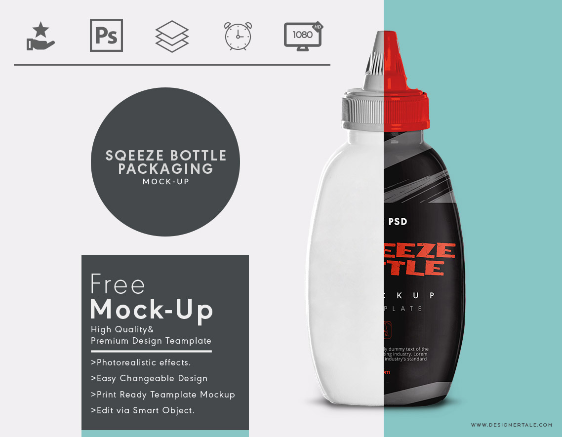 Ketchup squeeze bottle mock up