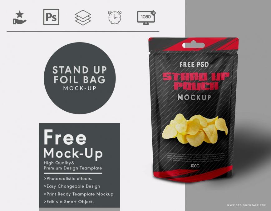 stand up foil bag mock up