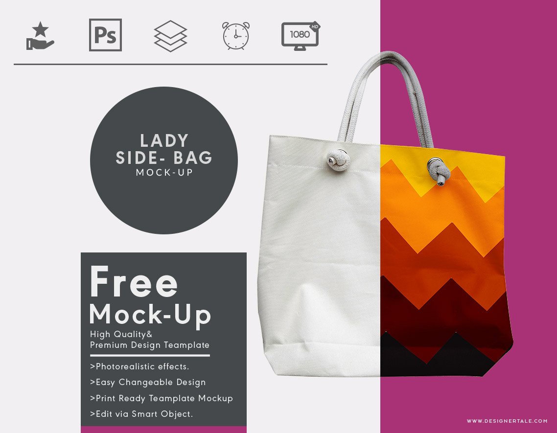 lady side bag mock up