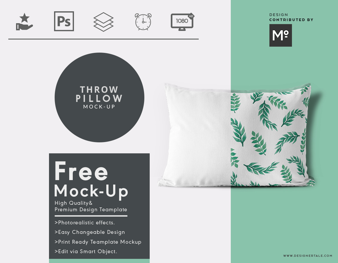 throw pillow cover mock up