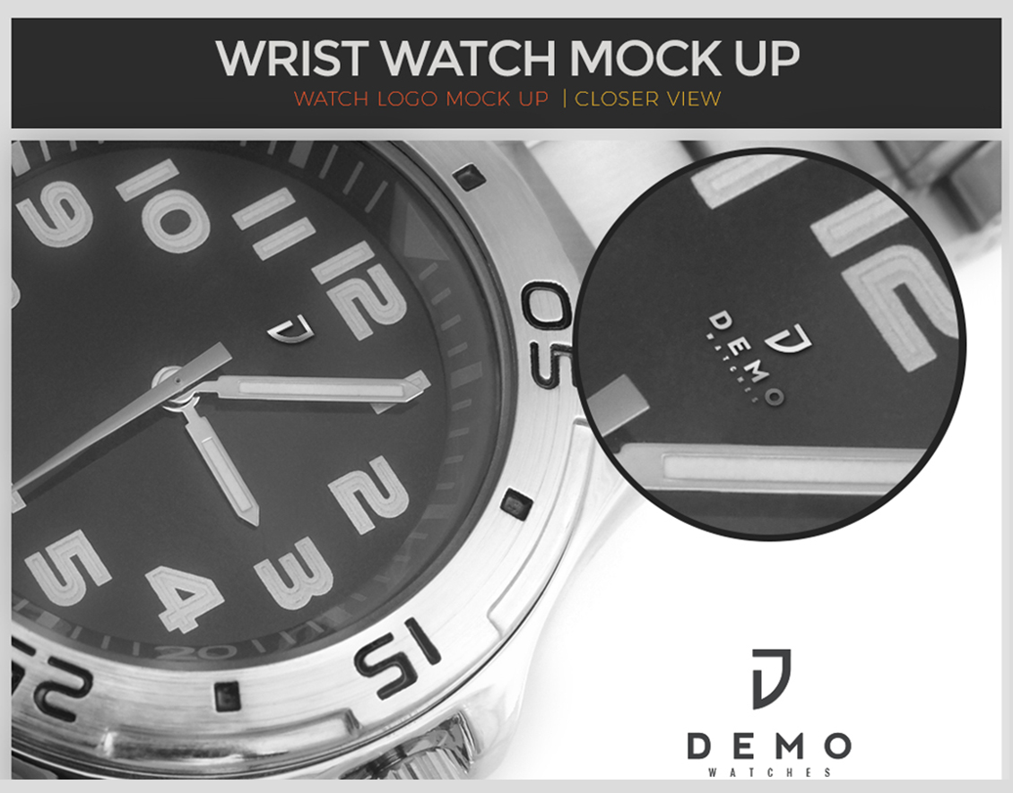 wrist watch mock up
