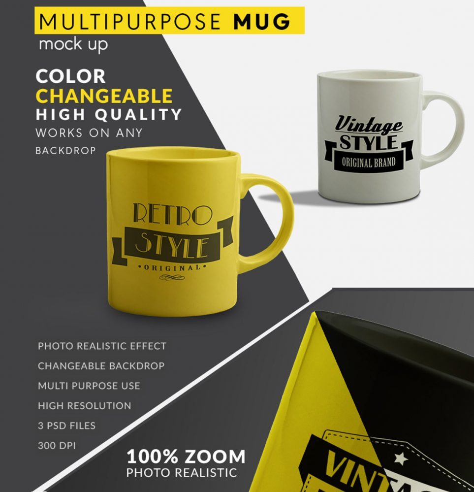 color changeable coffee mug mockup
