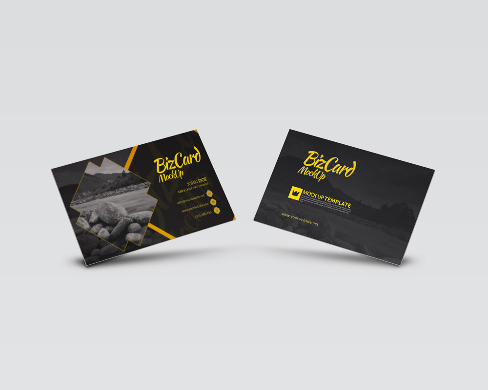 high resolution business card mockup template