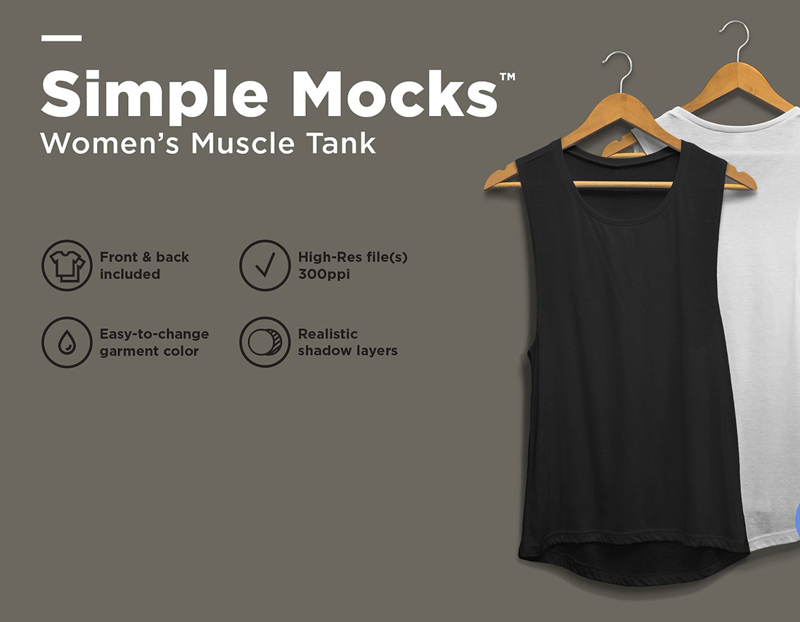 woman racer back tank top mockup