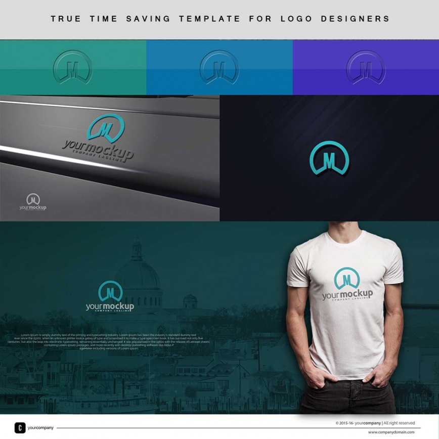 time saving free logo presentation template for logo designers