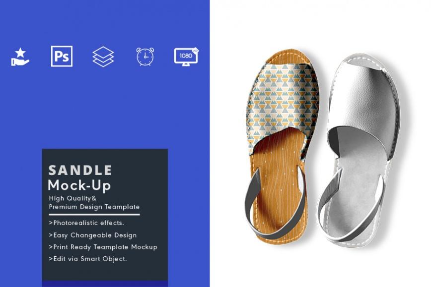 sandal mockup