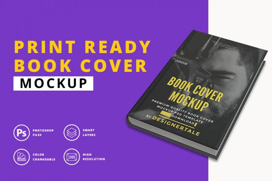 print ready book cover mockup
