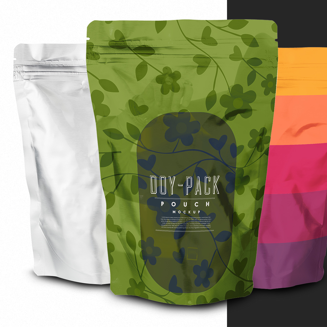 doy pack pouch mockup
