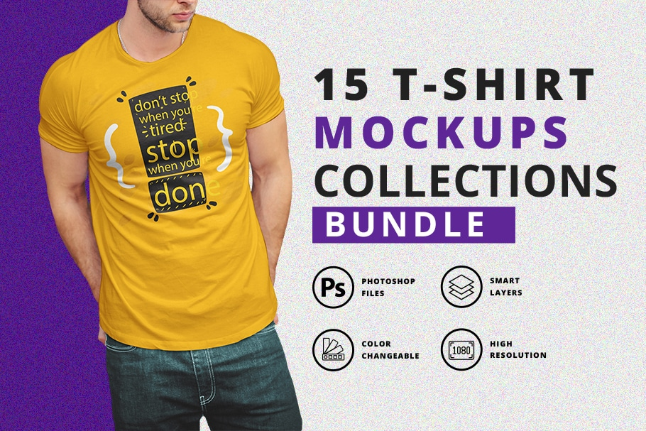 t shirt mockup bundle with model
