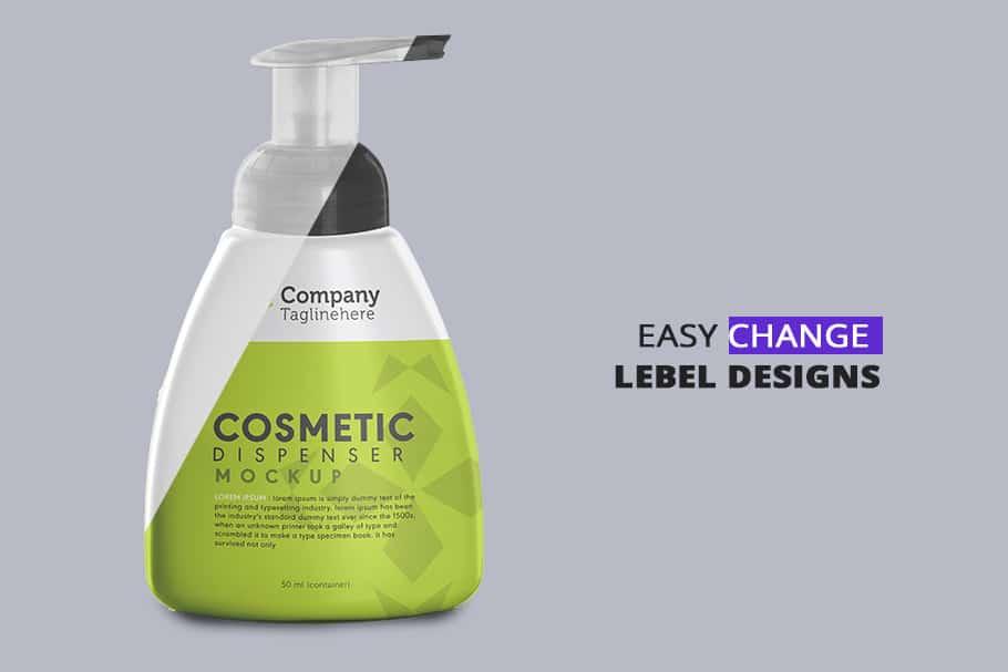 cosmetic dispenser mockup