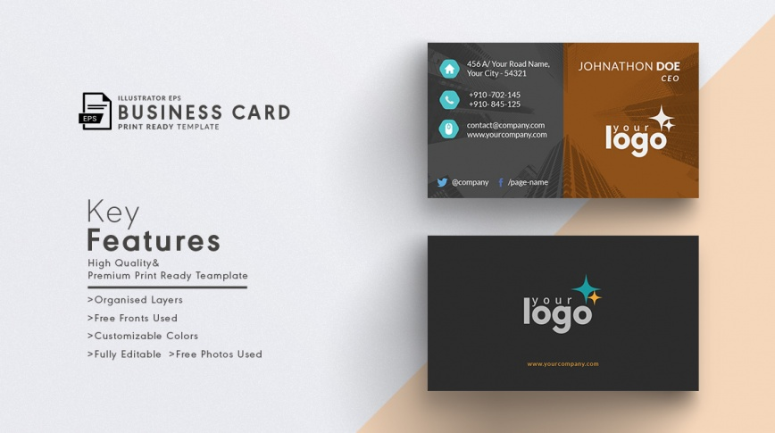 print ready vector business card