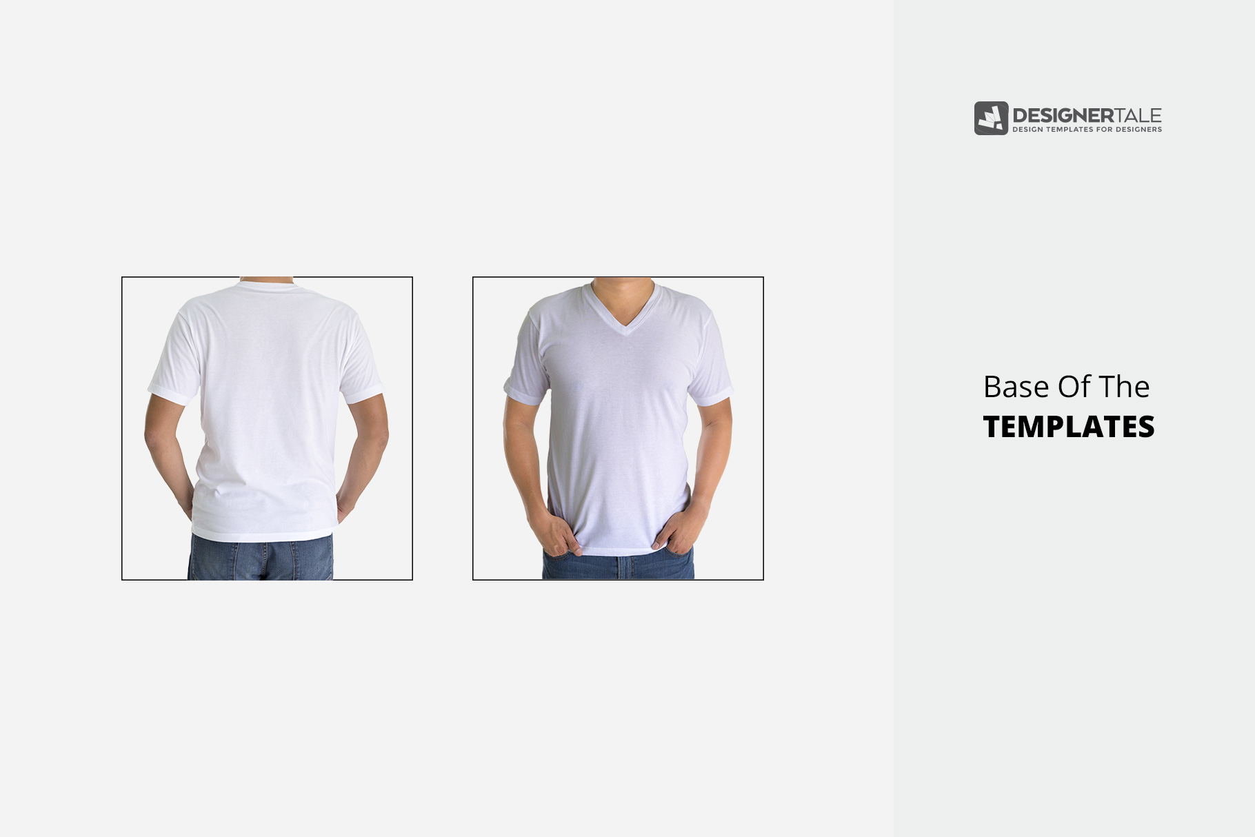 Men v collar t-shirt mock up PSD template