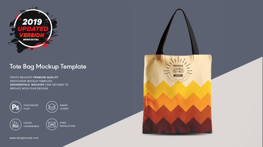tote bag mockup Photoshop template