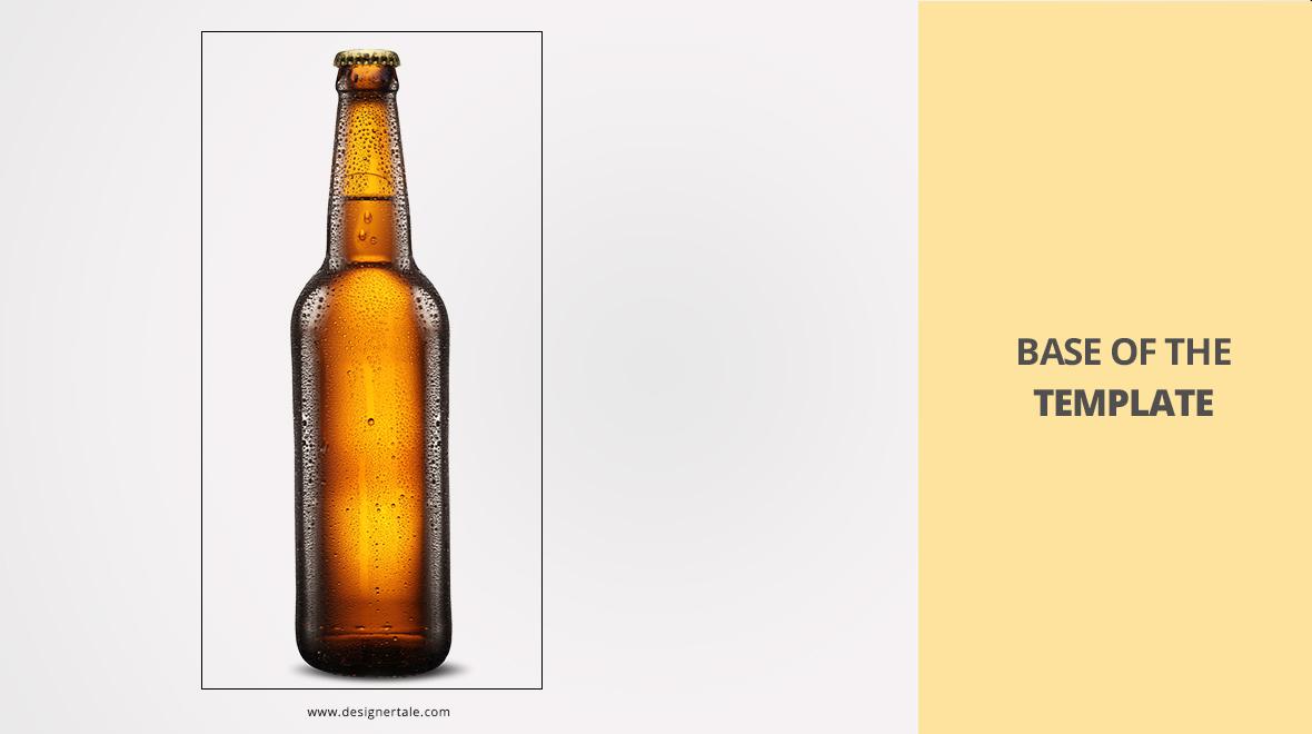 Beer bottle packaging label mockup PSD template