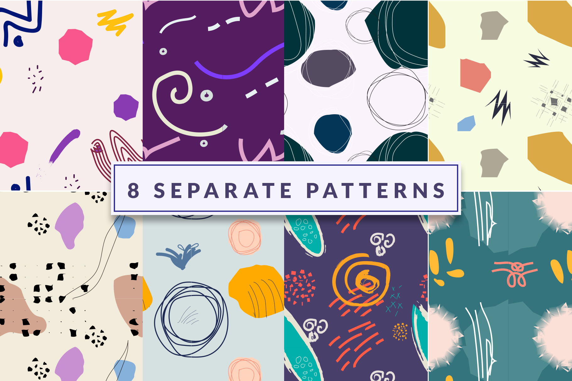 8 abstract pattern set download