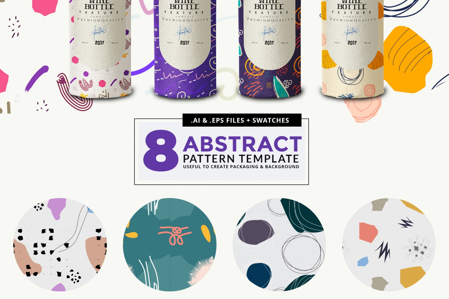 8 abstract vector pattern presentation preview image