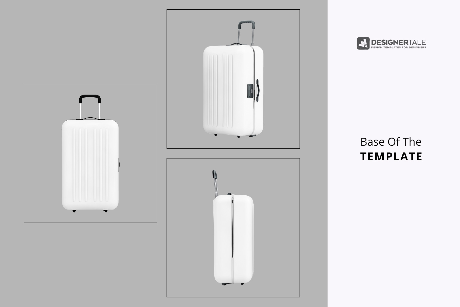 base templates of the tourist trolley luggage mockup