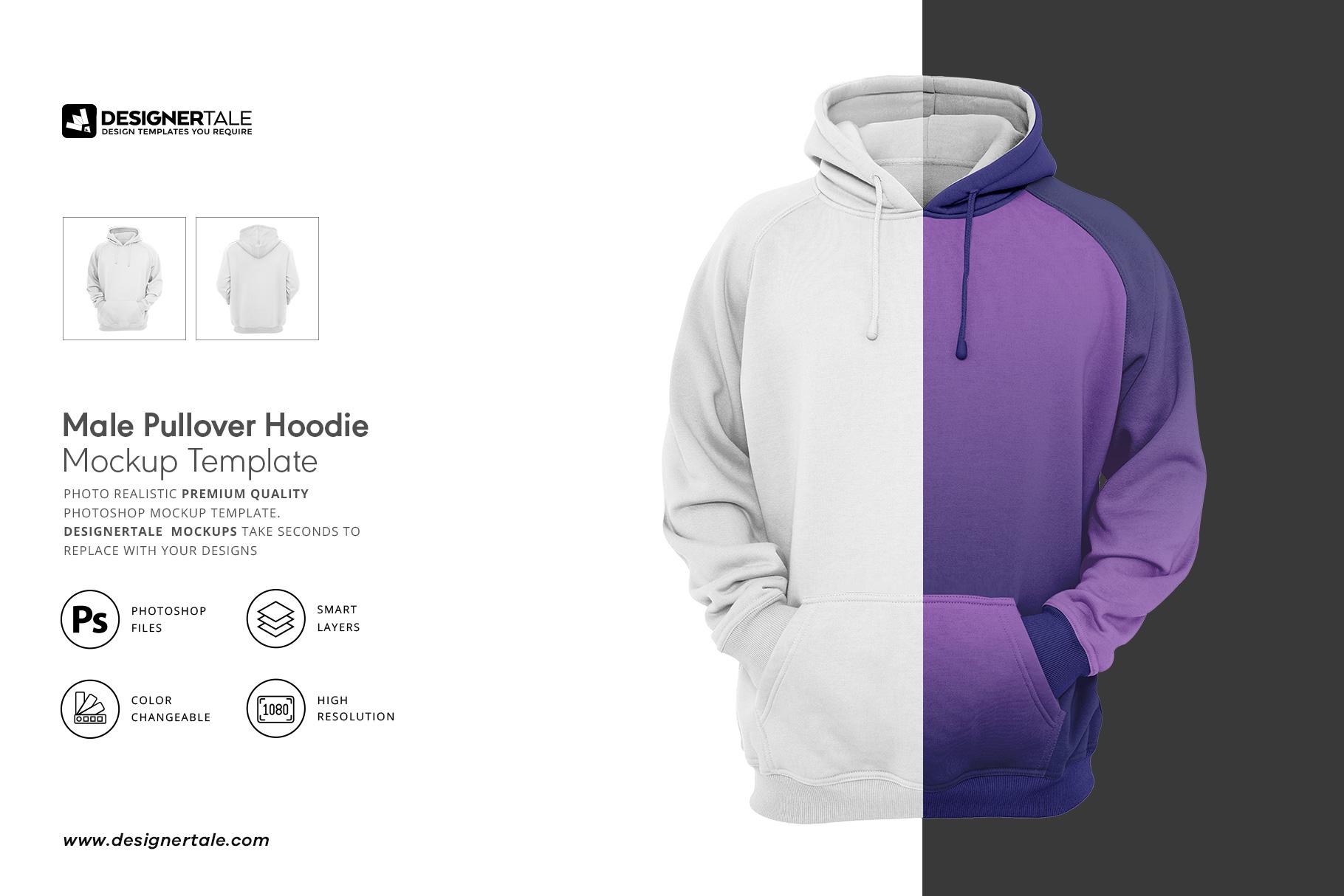 men hoodie mockup