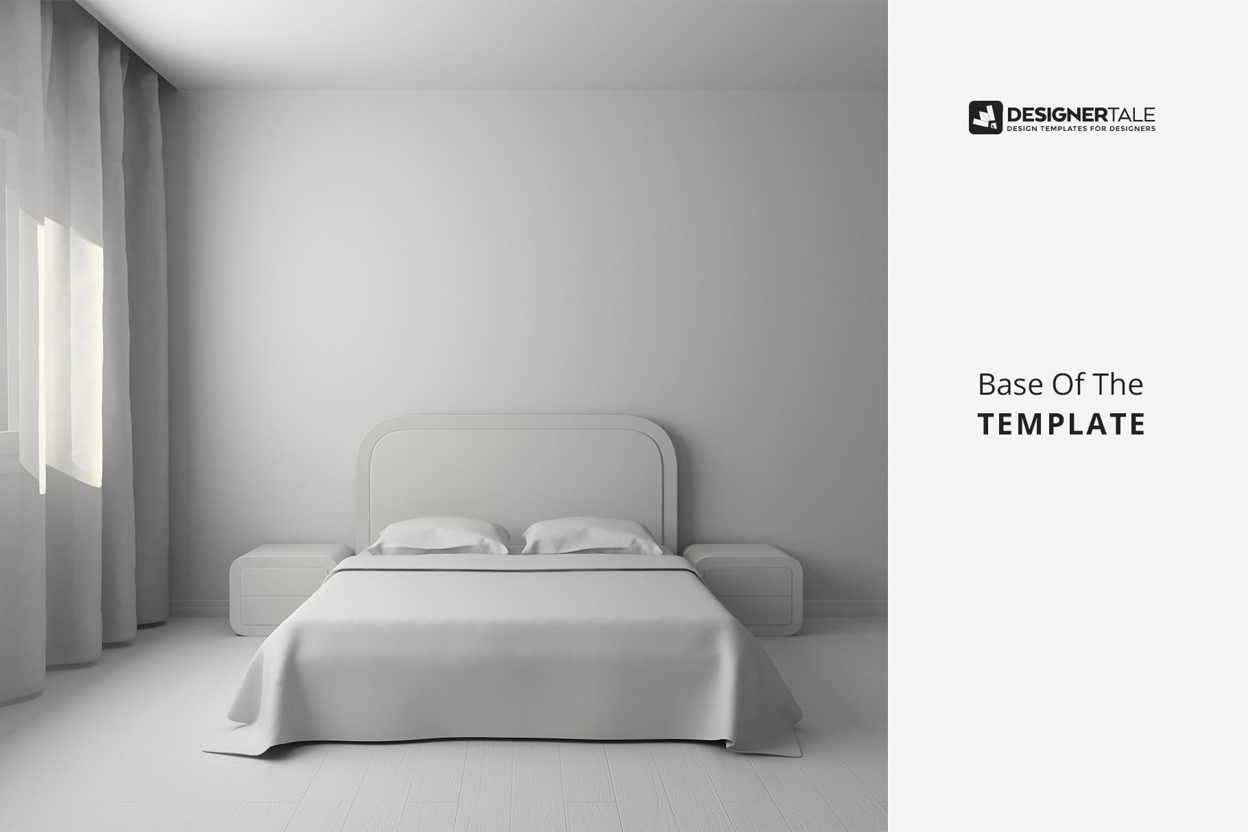 base image of the bedroom interior mockup