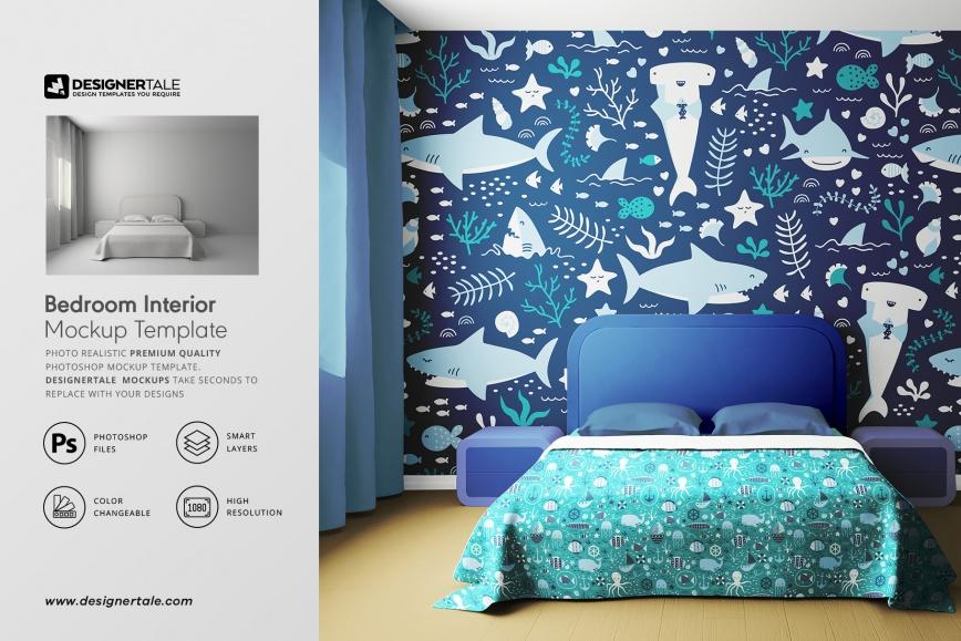 bedroom interior mockup