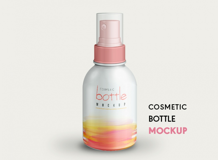 small cosmetic bottle mockup