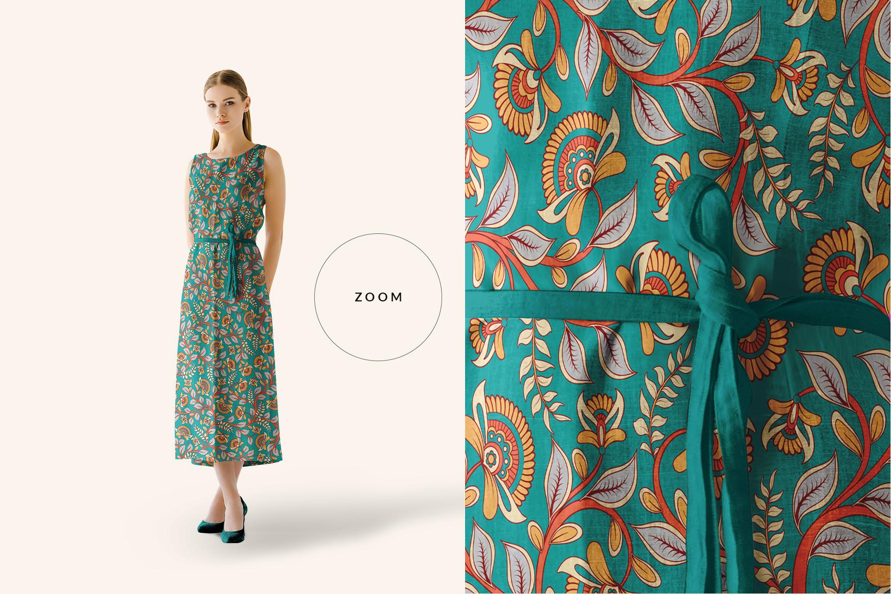 zoomed in image of women's sleeveless summer dress mockup