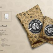 Plastic Snack Pouch Packaging Mockup