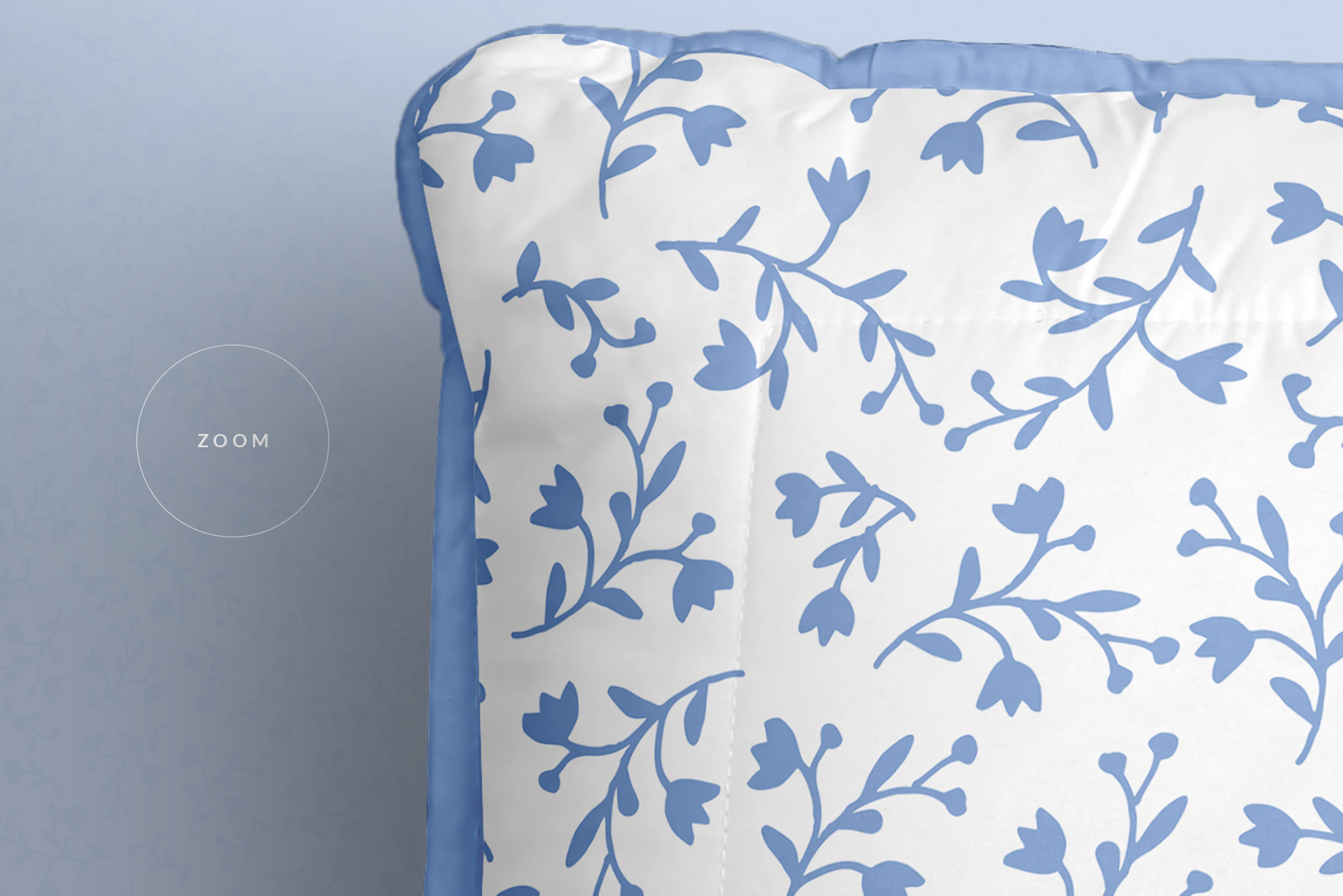 zoomed in image of the soft bed pillow mockup