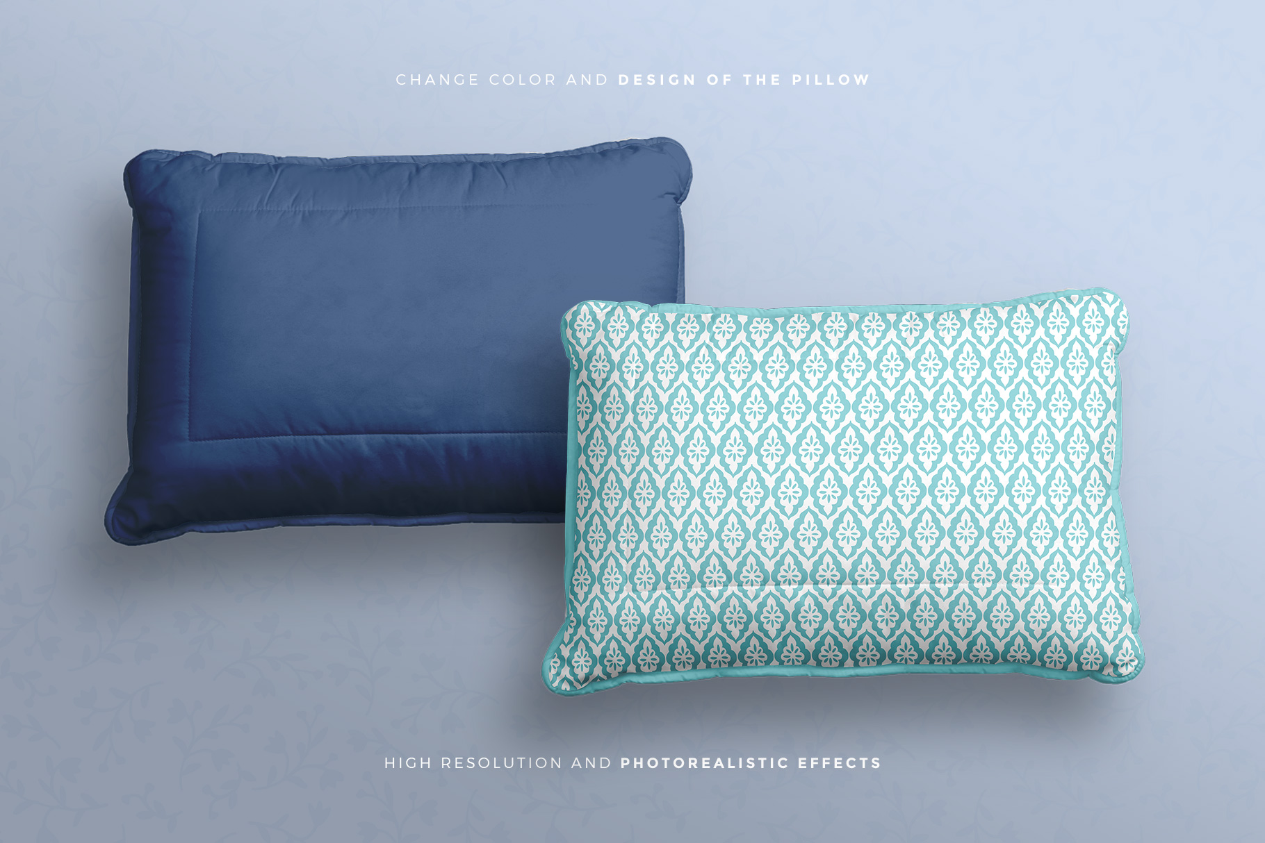 editability of the soft bed pillow mockup