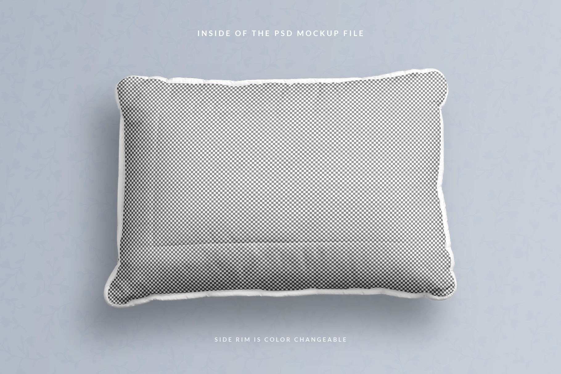 inside of the psd file of the soft bed pillow mockup