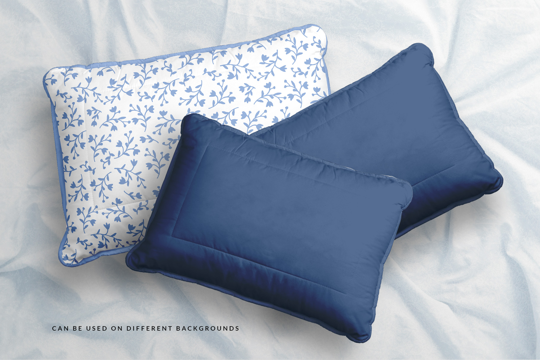 creative use of the soft bed pillow mockup