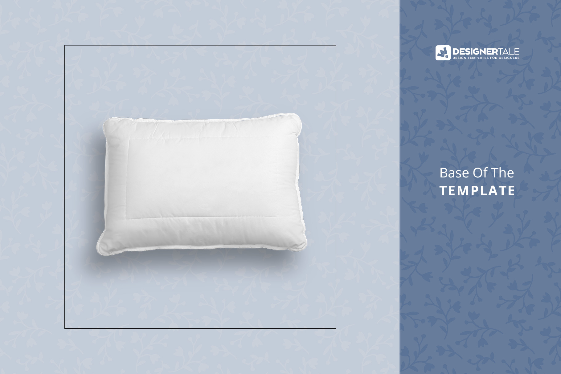 base of the soft bed pillow mockup