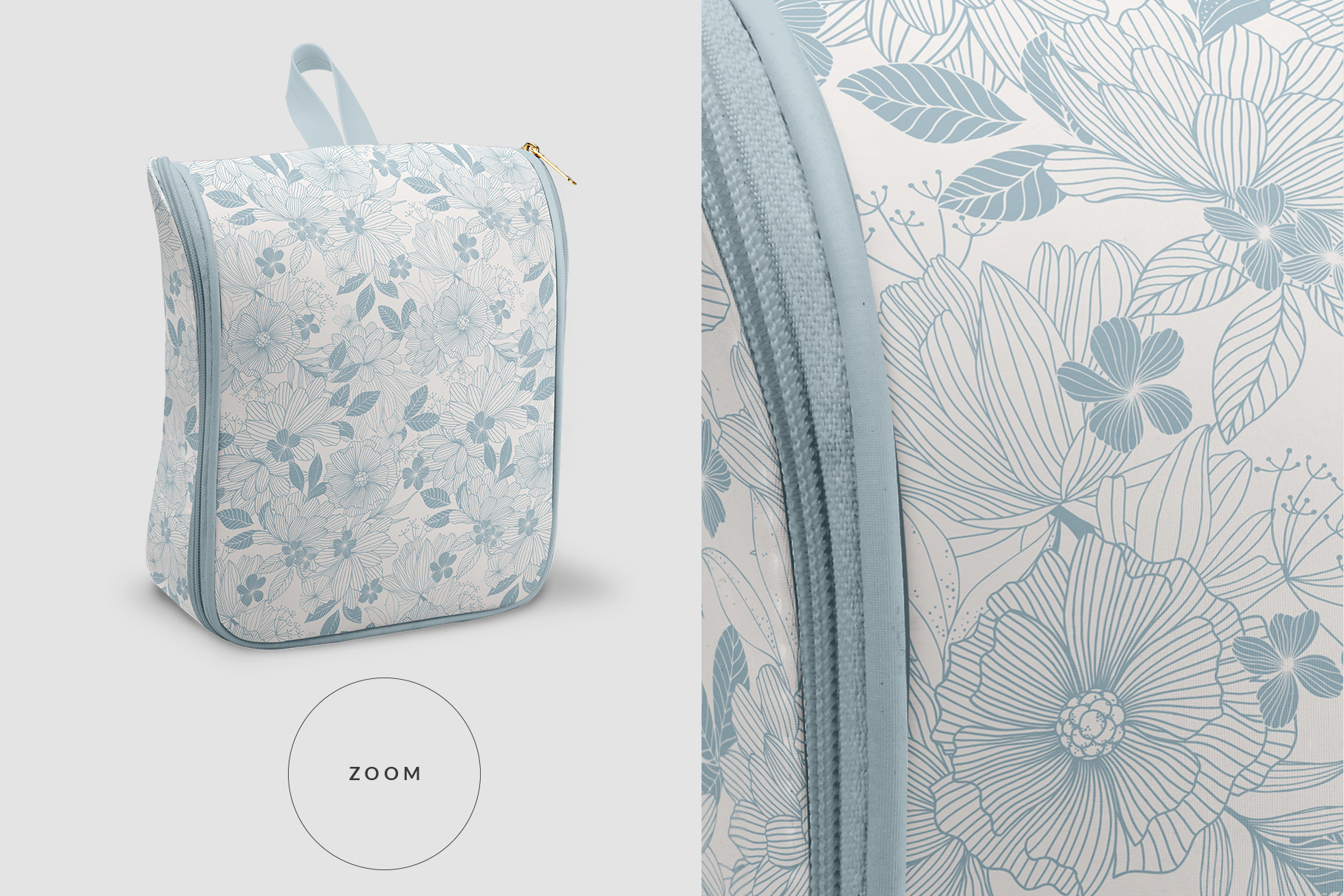 zoomed in image of the women's casual backpack mockup