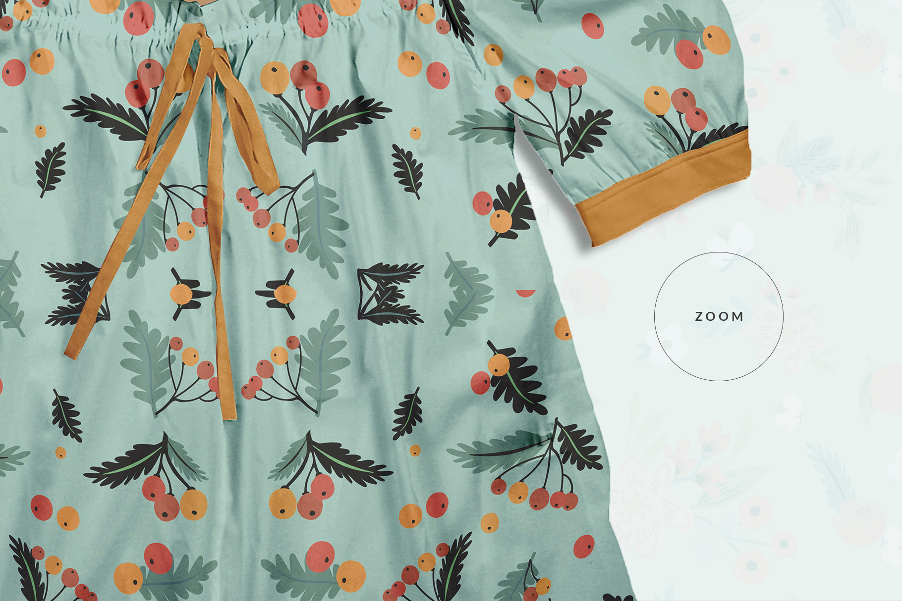 zoomed in image of the female puff shoulder blouse mockup