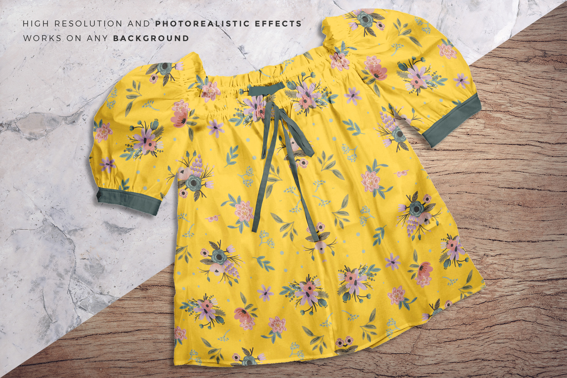 background options of the female puff shoulder blouse mockup