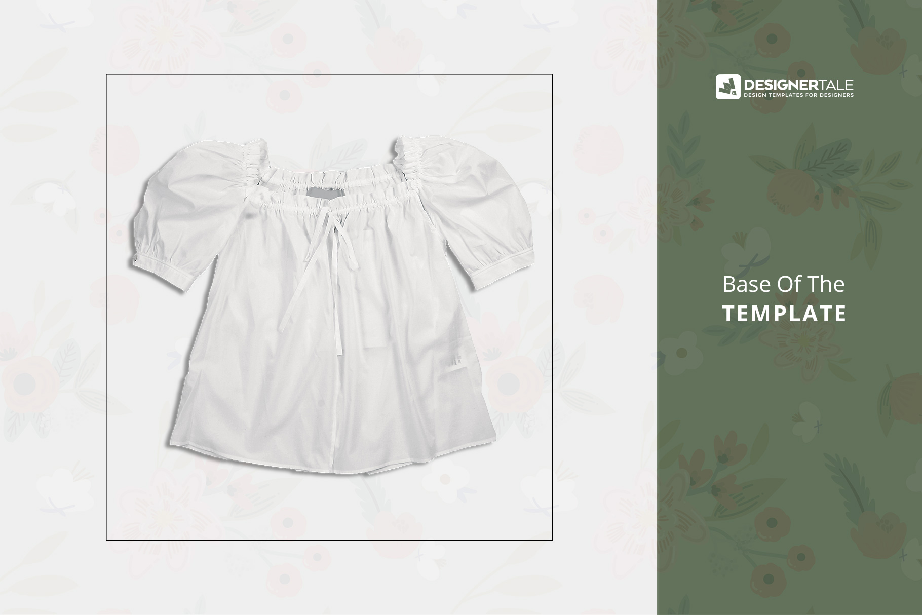 raw image used to create this female puff shoulder blouse mockup