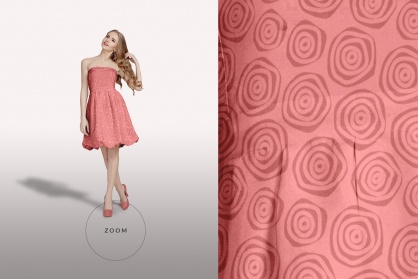 zoomed in image of the female shoulderless cocktail dress mockup