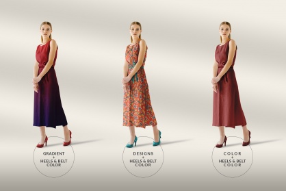 types of edits of the women's sleeveless summer dress mockup vol.2