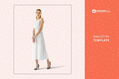 base image of the women's sleeveless summer dress mockup vol.2