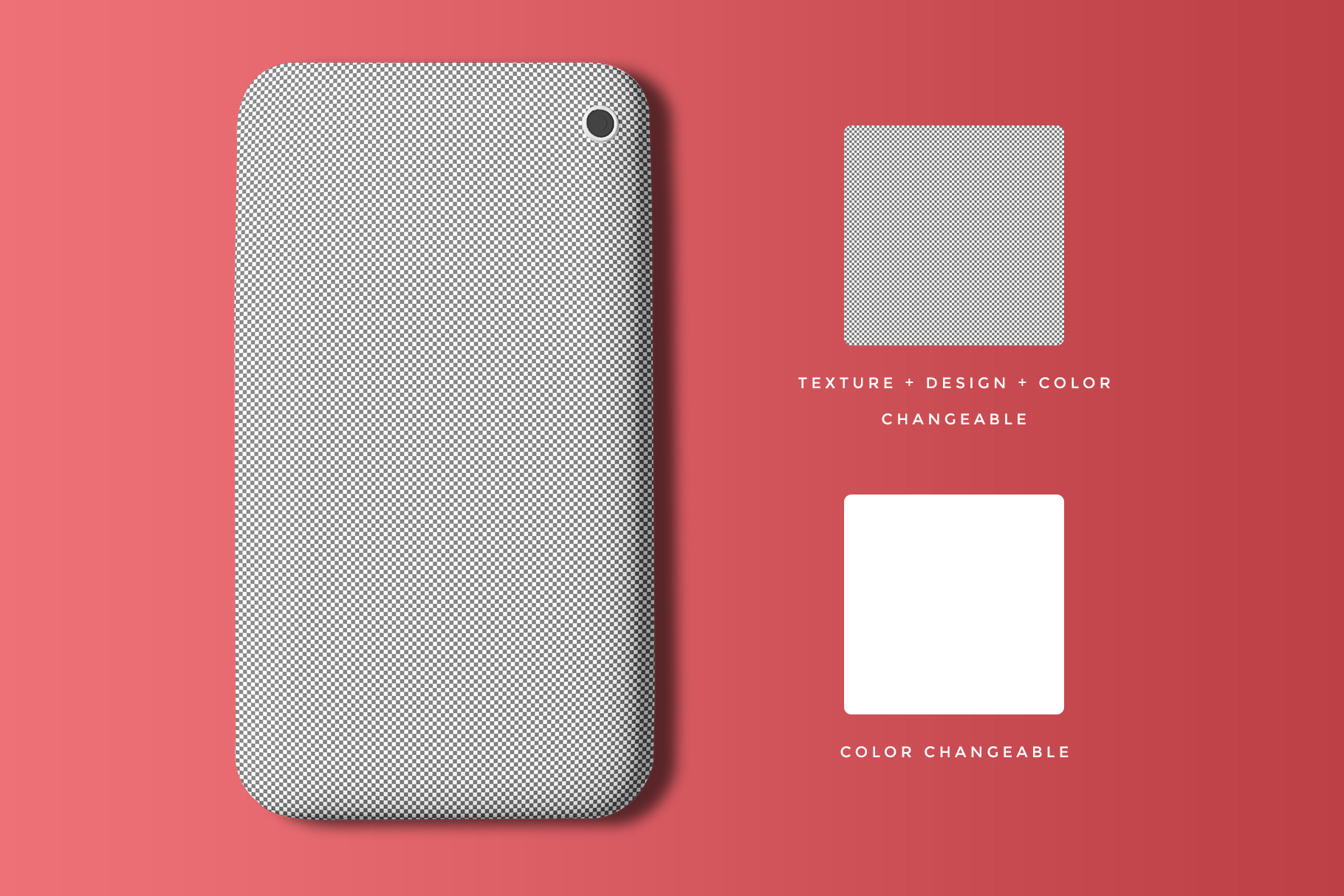 editability of the top view smart phone back cover mockup