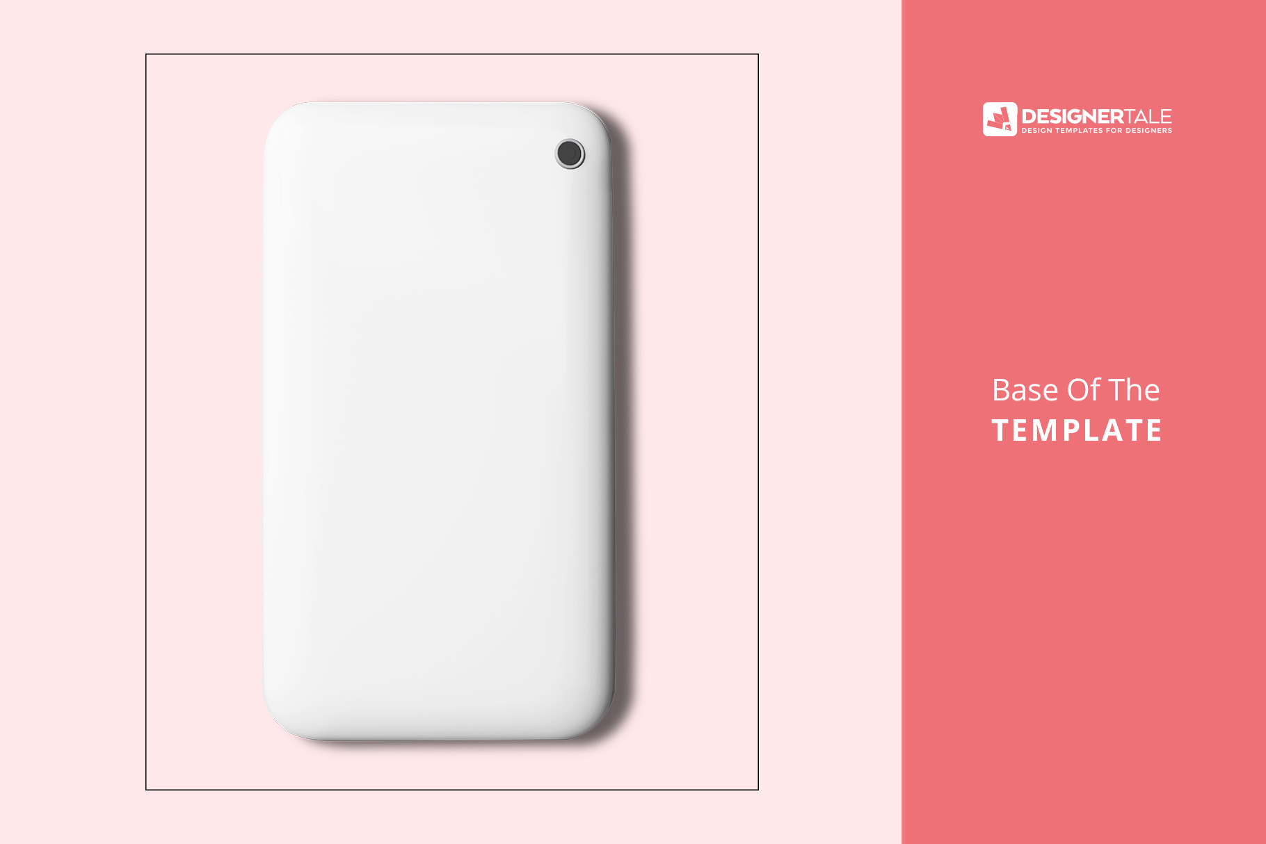image base of the top view smart phone back cover mockup