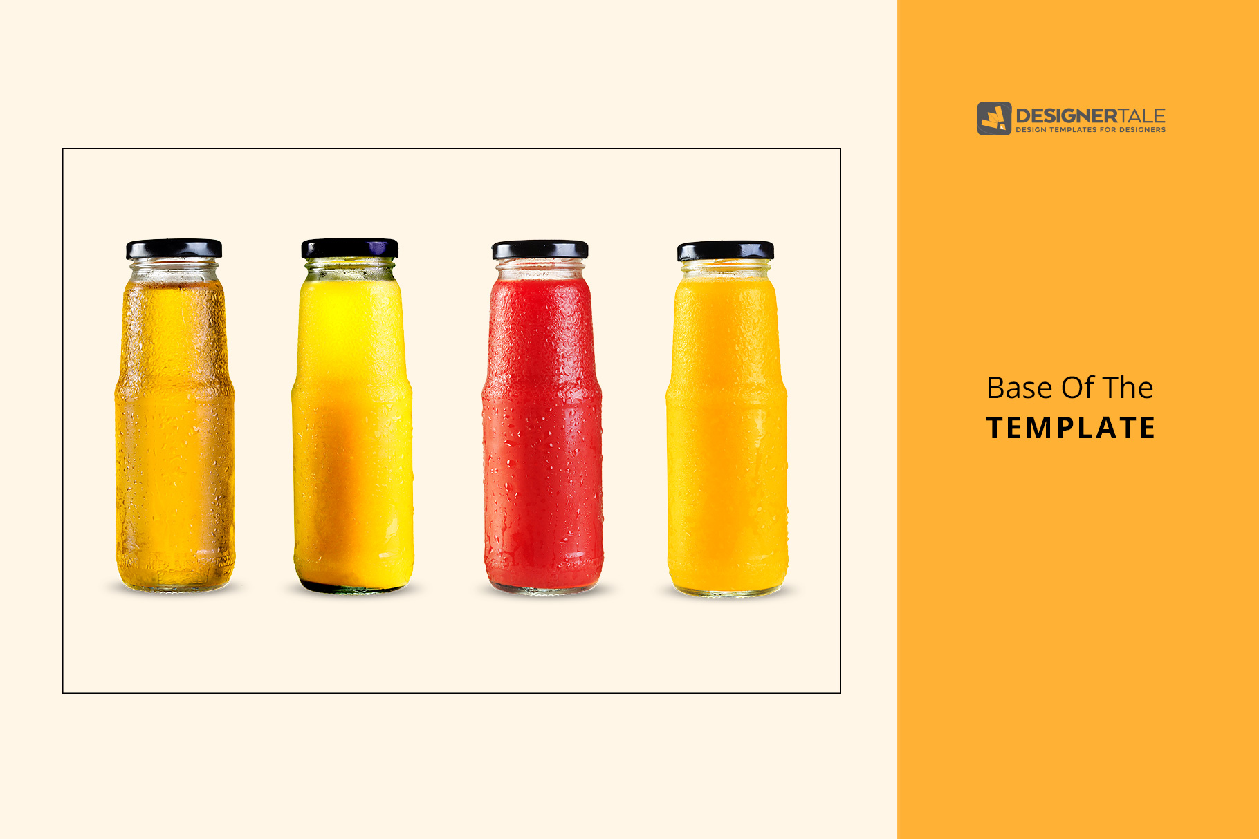 base of the fruit juice glass container mockup