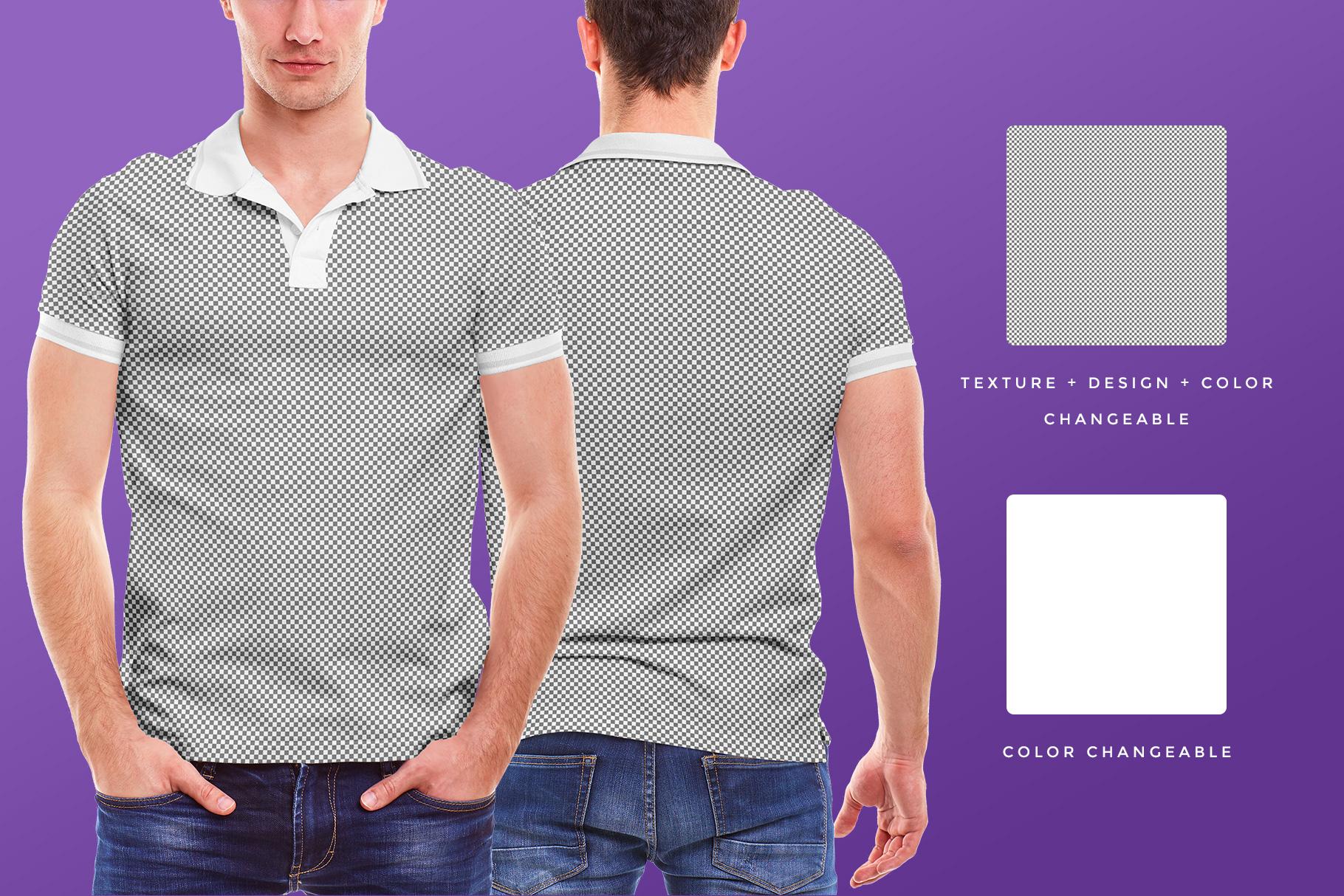 editability of the men collar polo shirt mockup