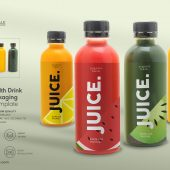 Plastic Health Drink Bottles Packaging Mockup